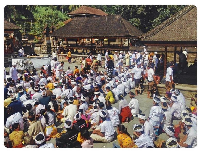 Local Ceremony at Pura Tirta Empul Temple